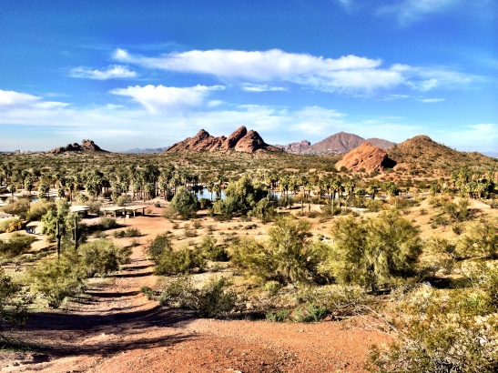 The view from the Governor's memorial in Papago Park, near Scottsdale AZ