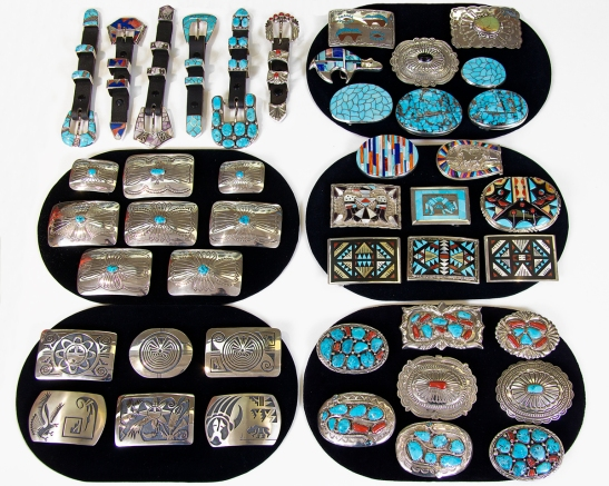 A selection of belt buckles from our store