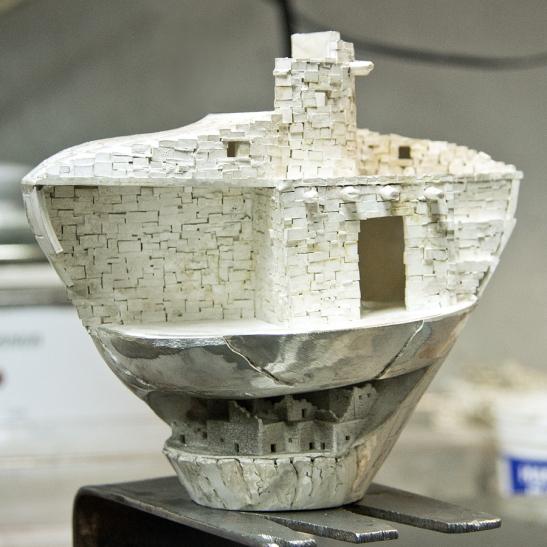 The pot after the acid bath